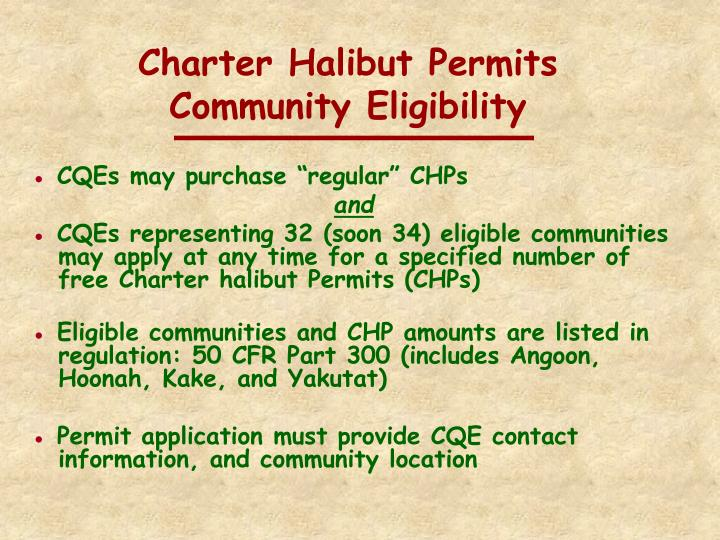 Charter Halibut Permits