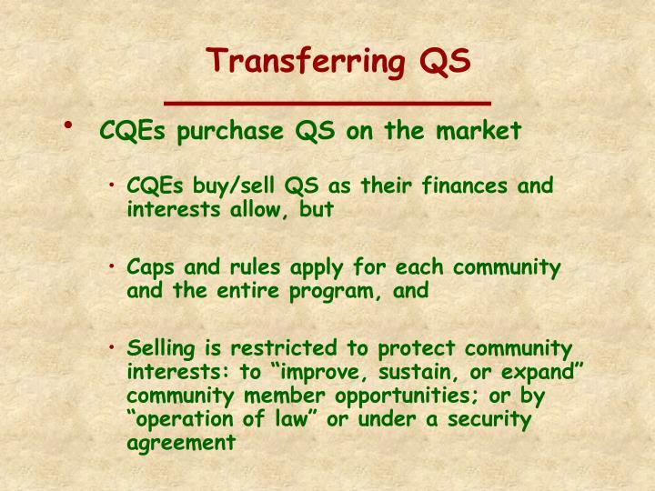 Transferring QS