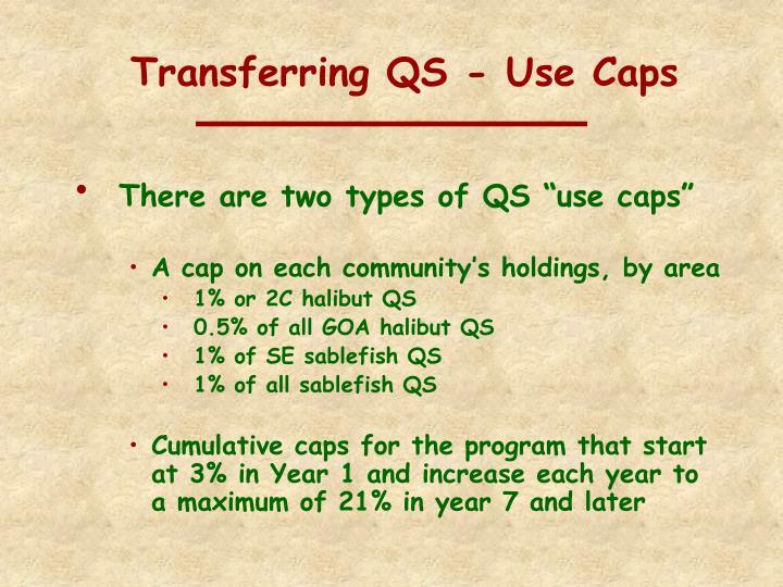 Transferring QS - Use Caps