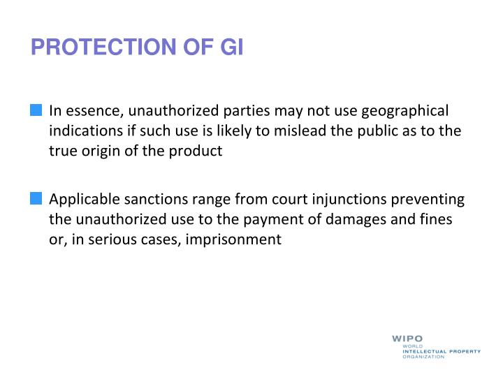 PROTECTION OF GI