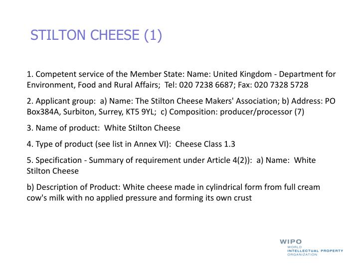STILTON CHEESE (1)