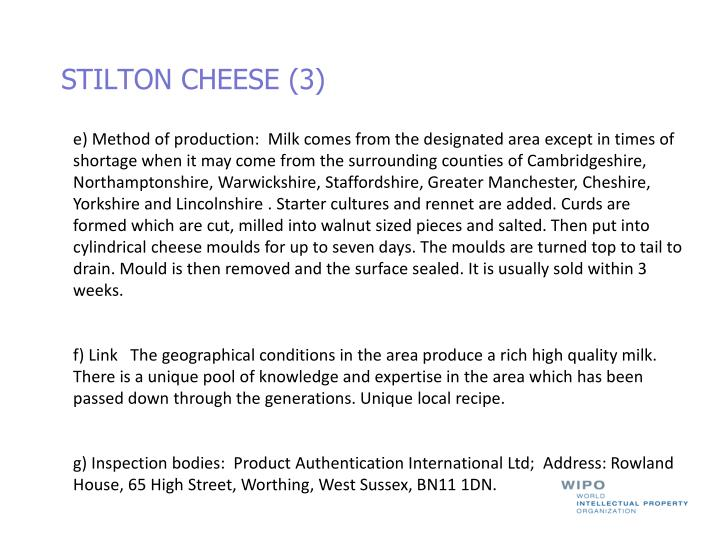 STILTON CHEESE (3)