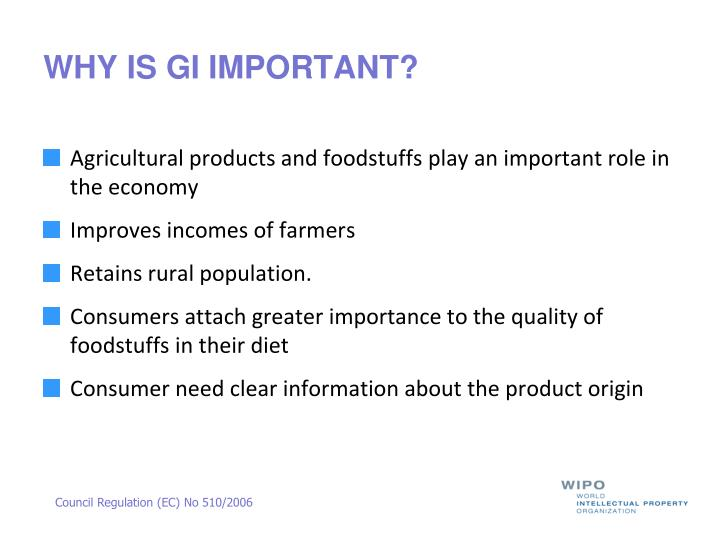 WHY IS GI IMPORTANT?