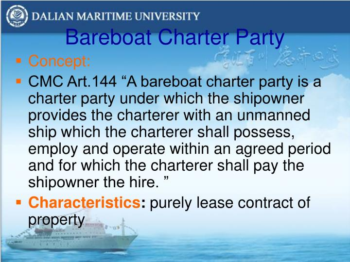 Bareboat Charter Party