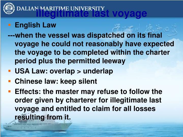 illegitimate last voyage