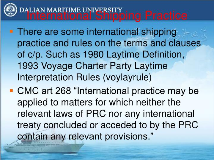 International Shipping Practice
