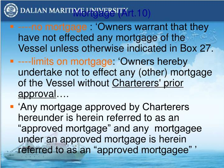 Mortgage (Art.10)