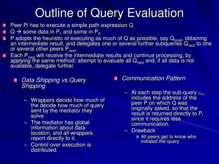 Data Shipping vs Query Shipping