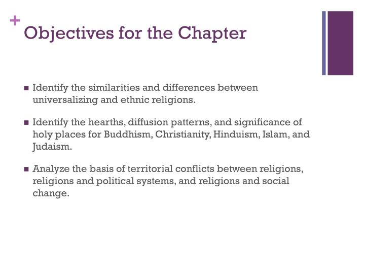 Objectives for the Chapter