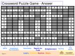 crossword puzzle game answer