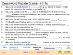 crossword puzzle game hints