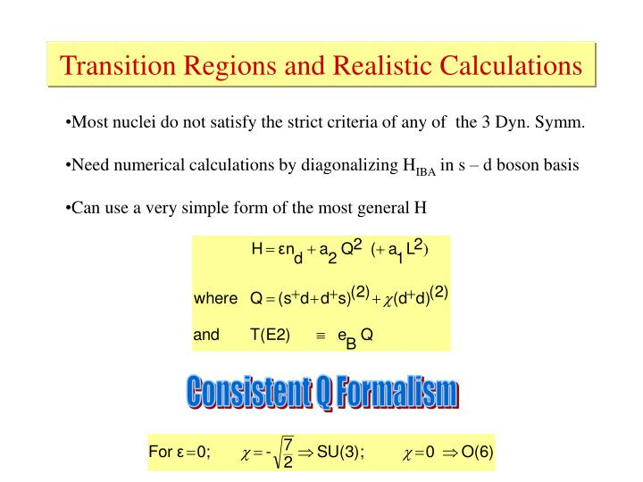 Transition Regions and Realistic Calculations