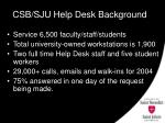 csb sju help desk background
