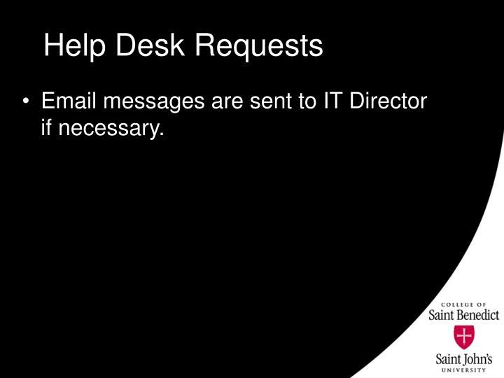 Help Desk Requests
