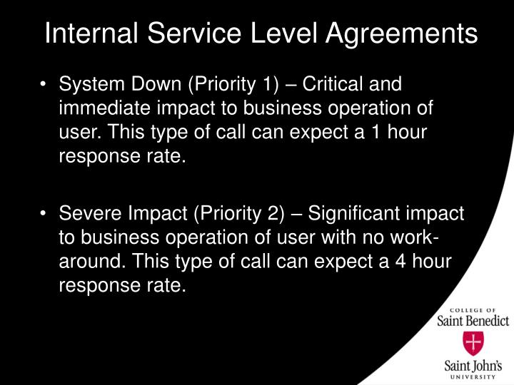 Internal Service Level Agreements