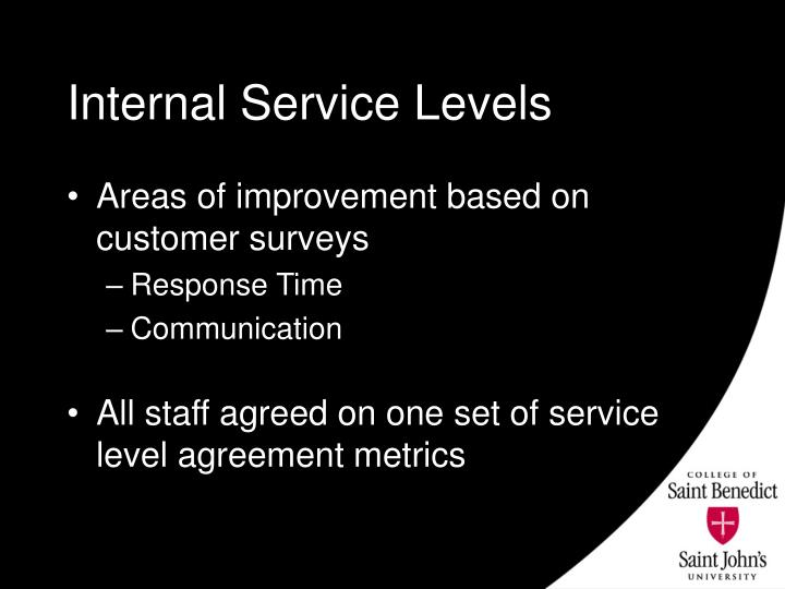 Internal Service Levels