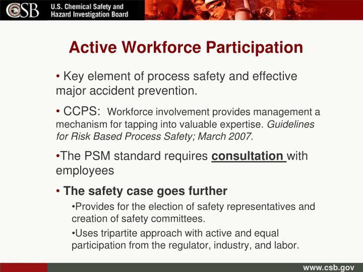 Active Workforce Participation