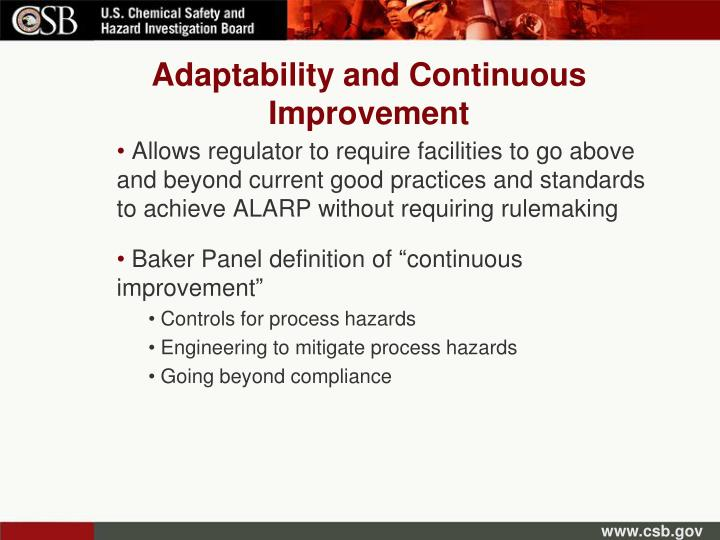 Adaptability and Continuous Improvement