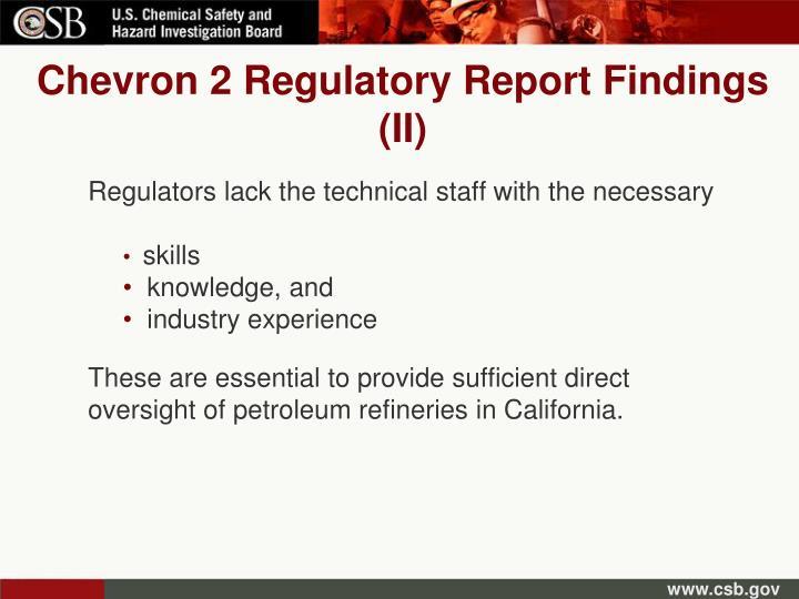 Chevron 2 Regulatory Report Findings (II)