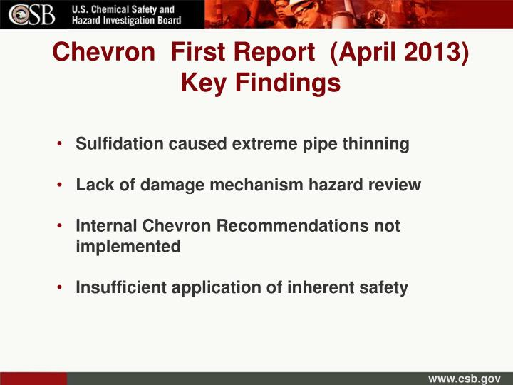 Chevron  First Report  (April 2013)
