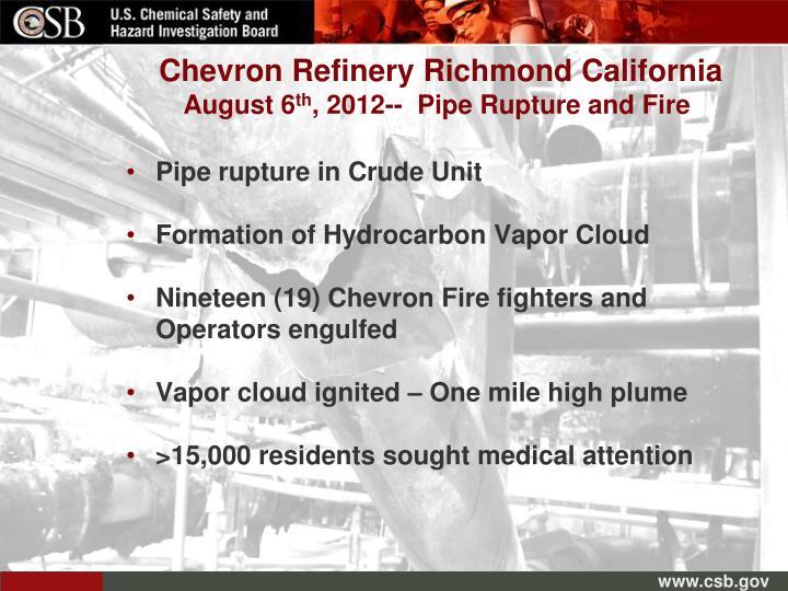 Chevron Refinery Richmond California