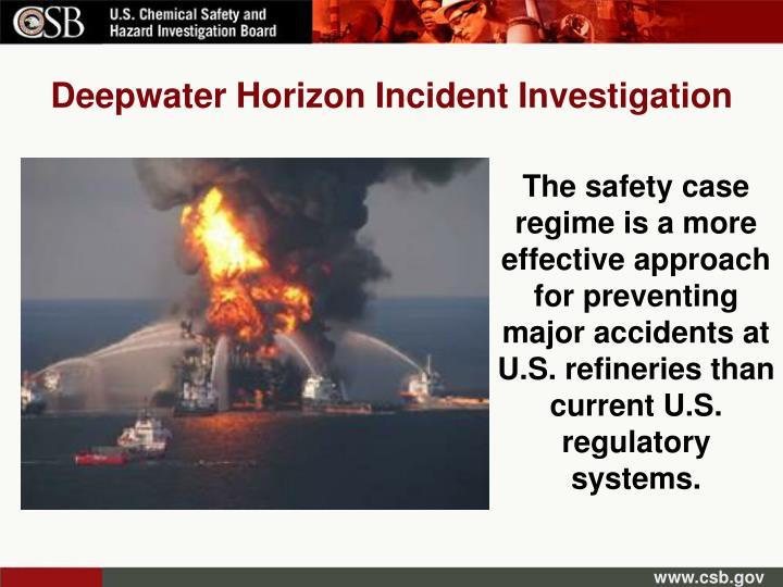 Deepwater Horizon Incident Investigation