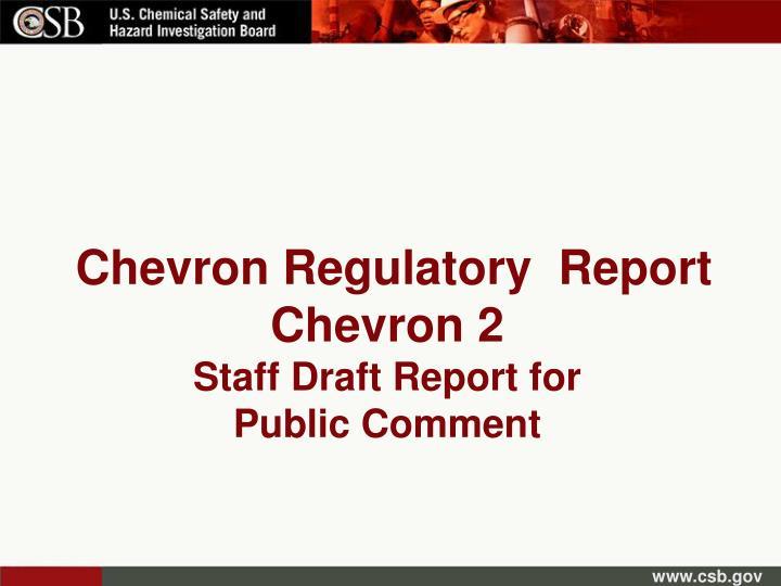 Chevron Regulatory  Report Chevron 2