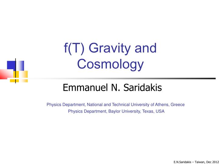 F(T) Gravity and
