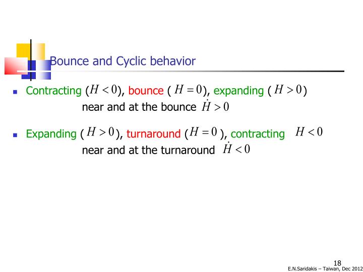 Bounce and Cyclic behavior