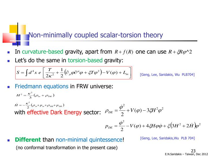 Non-minimally coupled scalar-torsion theory