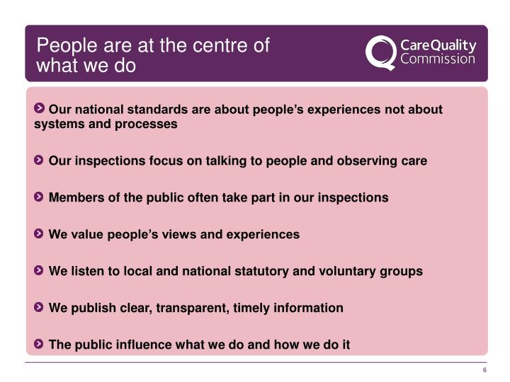 People are at the centre of what we do