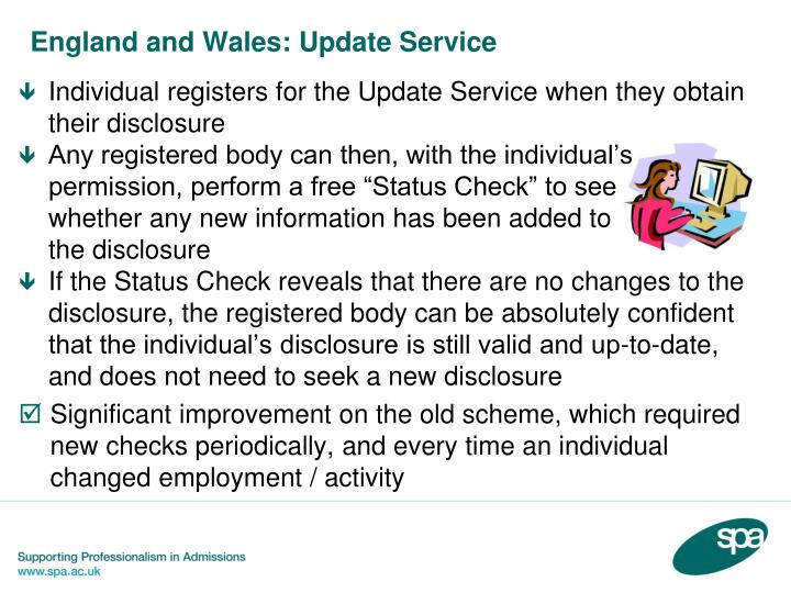 England and Wales: Update Service