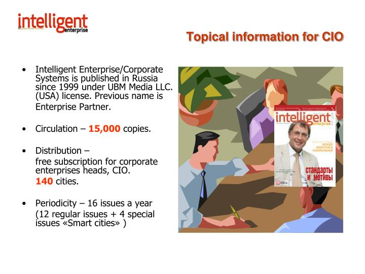 Topical information for cio