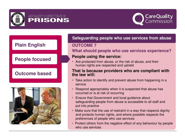 Safeguarding people who use services from abuse