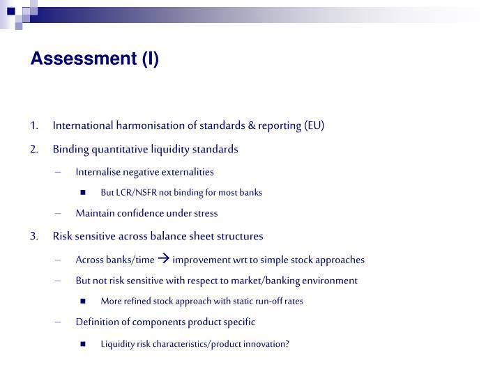 Assessment (I)