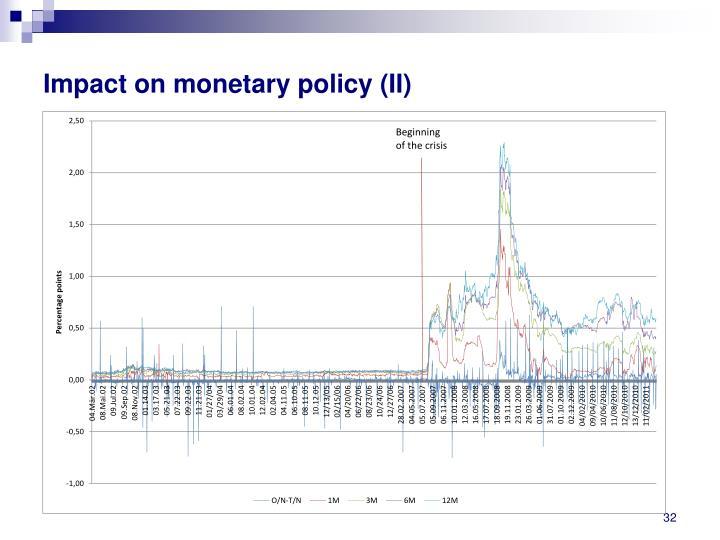 Impact on monetary policy (II)