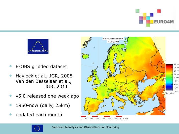 E-OBS gridded dataset