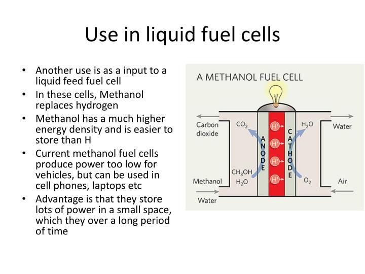 Use in liquid fuel cells