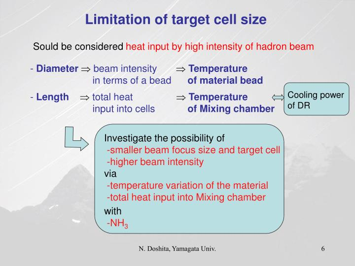 Limitation of target cell size