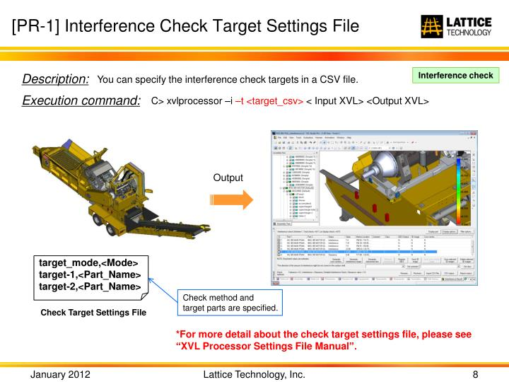 [PR-1] Interference Check Target Settings File