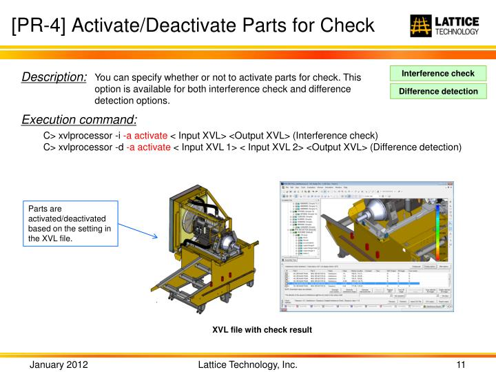 [PR-4] Activate/Deactivate Parts for Check