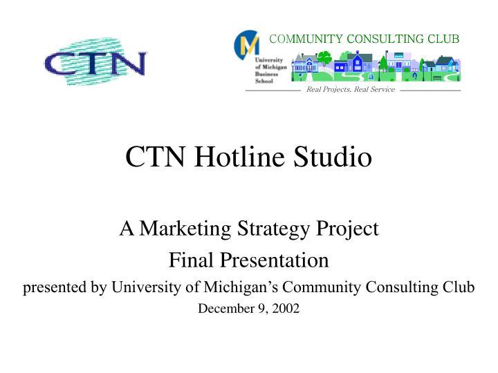 CTN Hotline Studio
