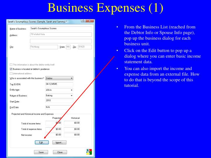 Business Expenses (1)