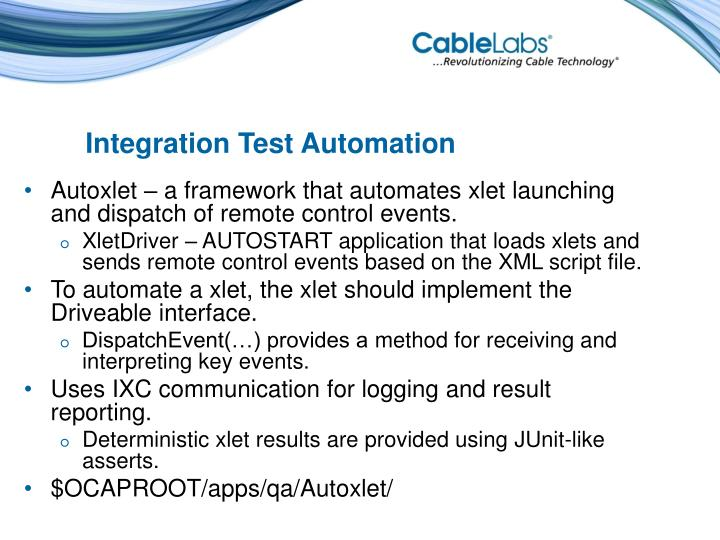 Integration Test Automation
