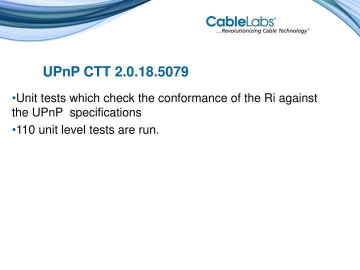 UPnP CTT 2.0.18.5079