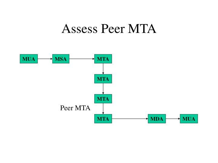 Assess Peer MTA