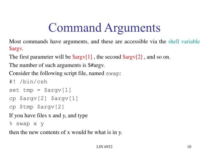 Command Arguments