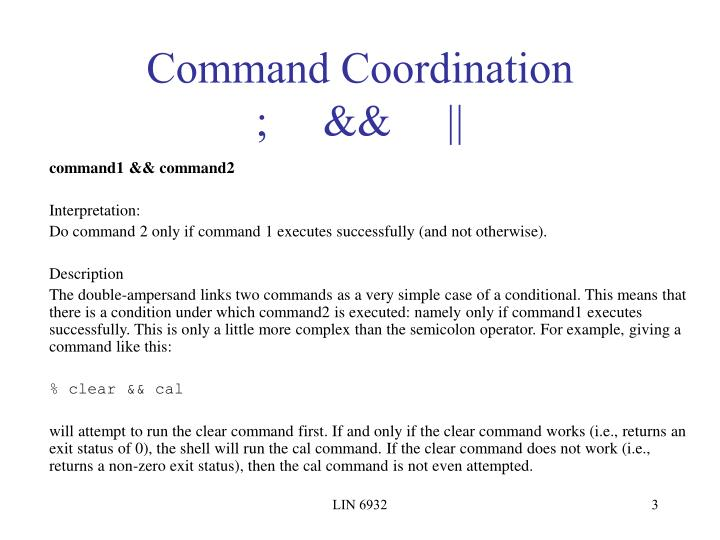 Command coordination1