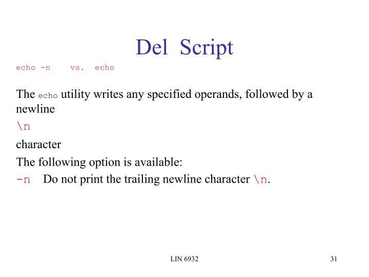 Del  Script