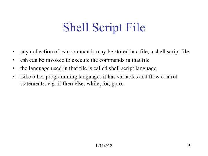 Shell Script File
